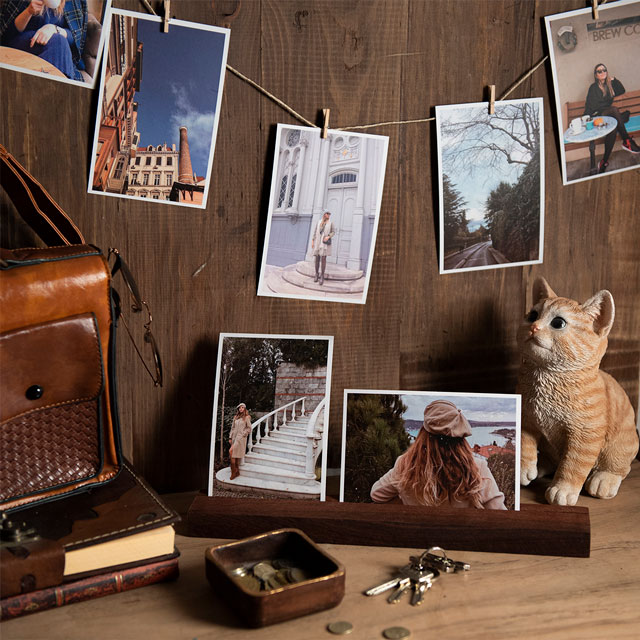 Wooden Long Photo Holder