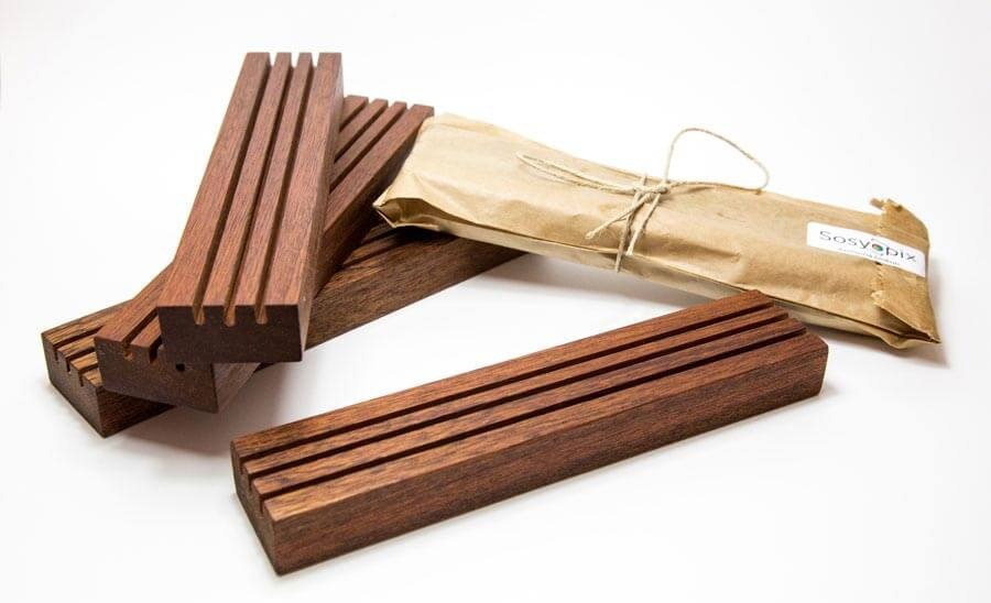 Wooden Triple Photo Holder