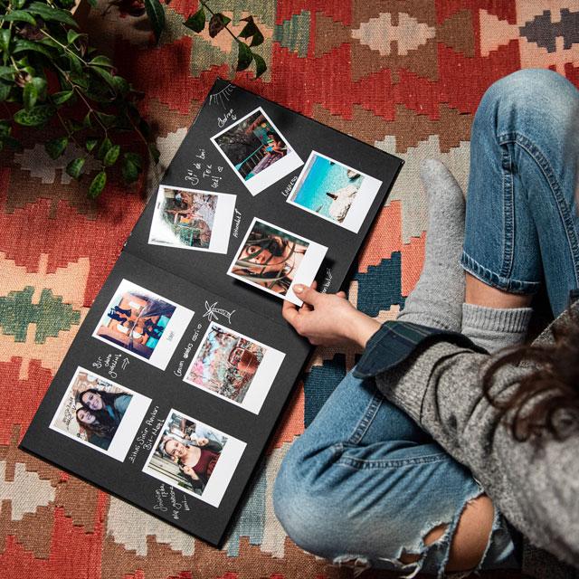 Big Photo Scrapbook with Retro Prints - 35 Pcs.