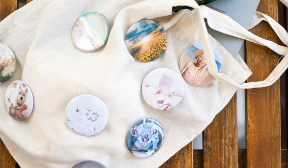 Button Badges - 12 Pcs.