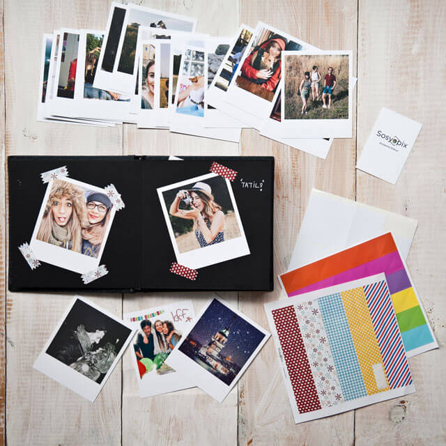 Photo Scrapbook with Retro Prints - 20 Pcs.