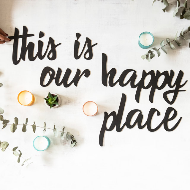 This is Our Happy Place Wooden Words Decor