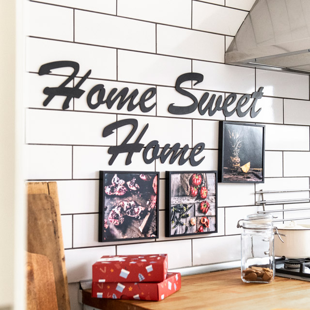 Home Sweet Home Wooden Words Decor