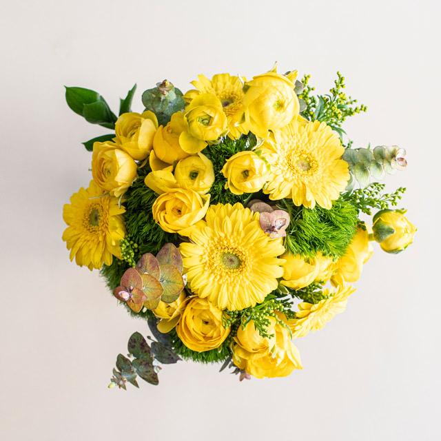 Sarı Erengül ve Gerbera Çiçek Buketi