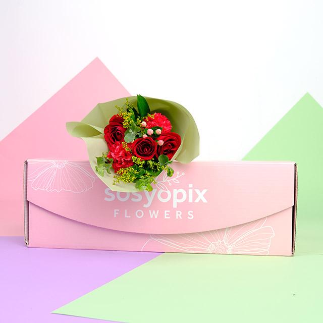 Red Velvet - Kırmızı Gül Buketi