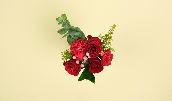 Red Velvet - Red Roses Bouquet Flowers