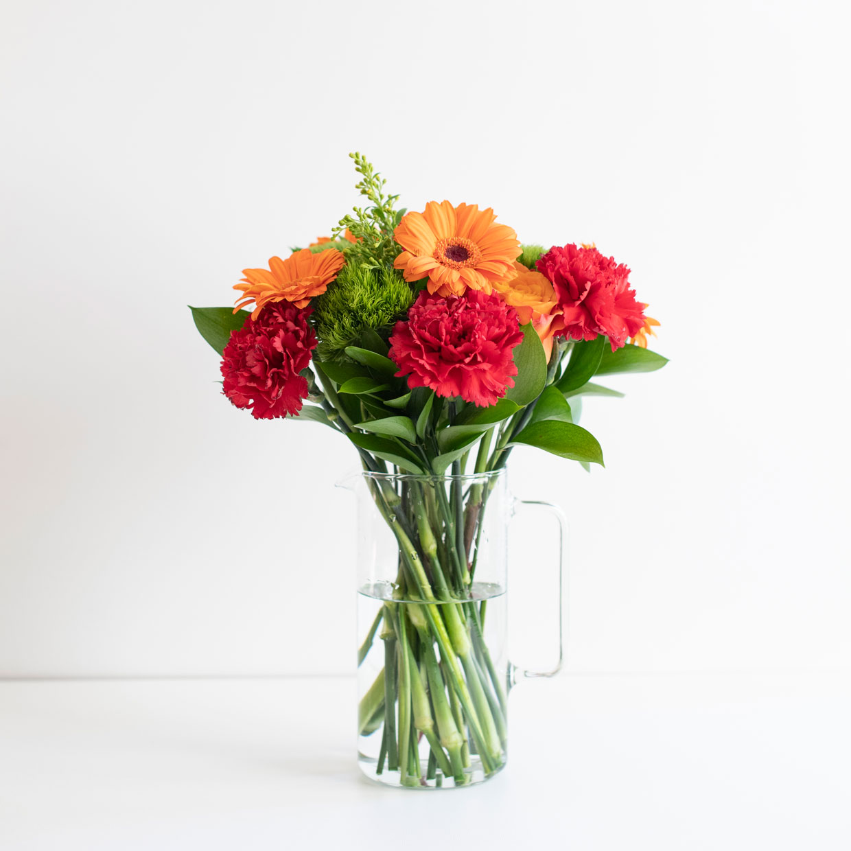 Turuncu Gerbera Çiçek Buketi