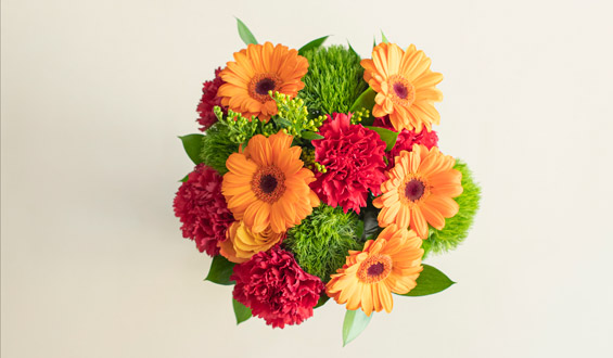 Orange Gerbera Flower Bouquet