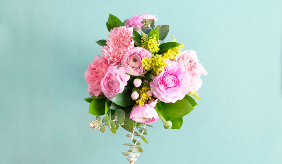 Pink Dream - Carnation Bouquet with Peonies