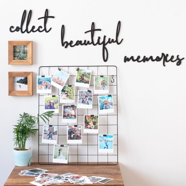 Collect Beautiful Memories Ahşap Duvar Yazısı