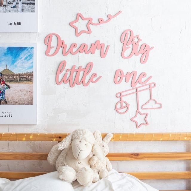 Dream Big Little One Wooden Words Decor