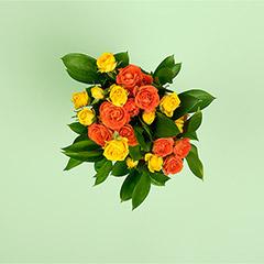 Orange Spray Rose Bouquet