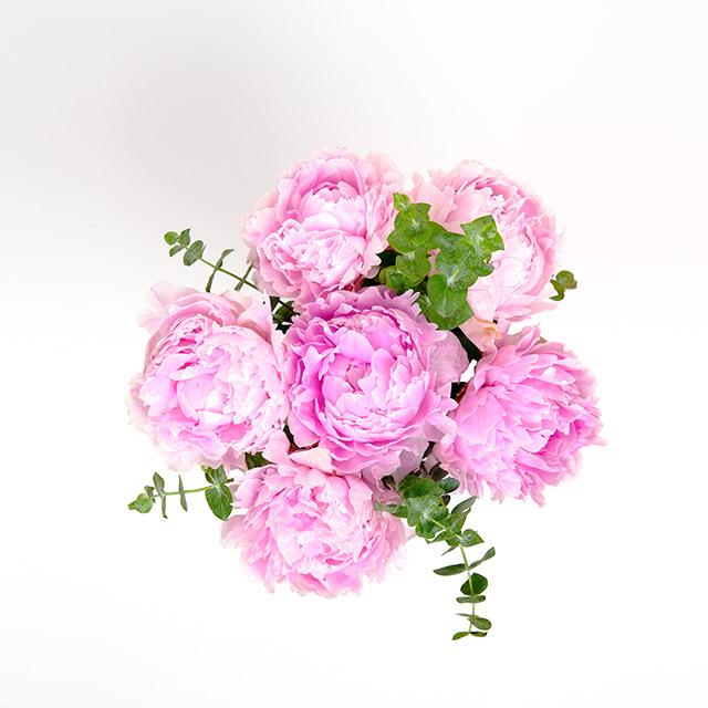 Pembe Şakayıklar Çiçek Buketi
