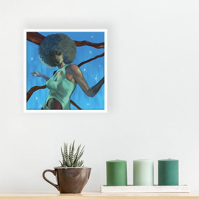 Art - Soul Dancing - 20x20 Yapışan Çerçeve