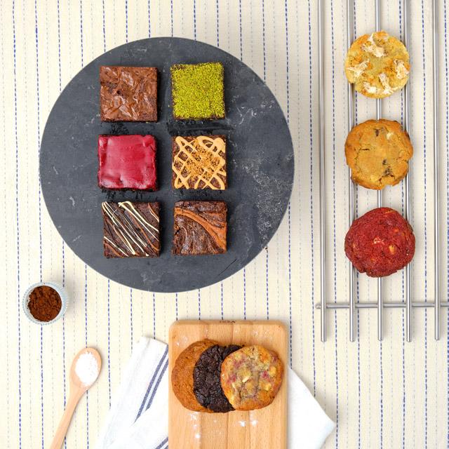 Premium Brownie ve Cookie Kutusu - 12 Adet