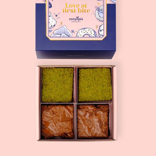 Antep Fıstık ve Klasik Brownie Kutusu - 4 Adet