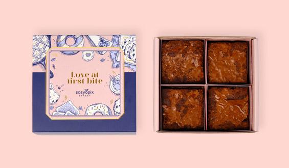 Klasik Brownie Kutusu - 4 Adet