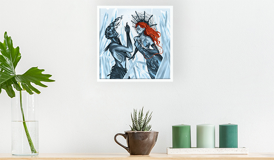 Ice Queen 20x20 Sticky Frame