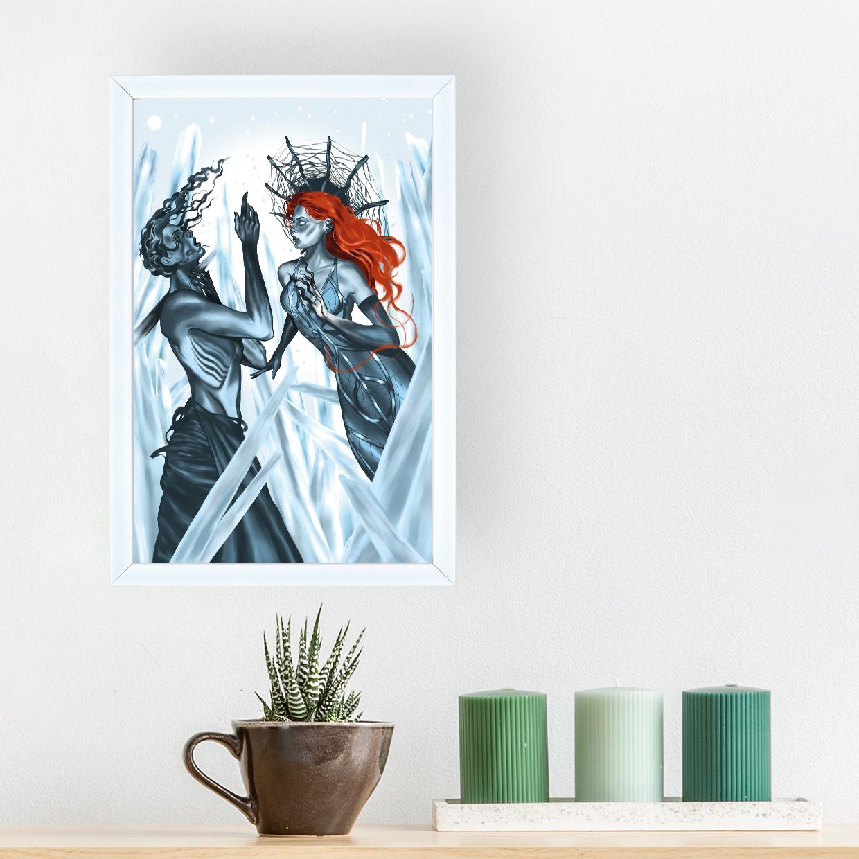 Art - Ice Queen 20x30 Yapışan Çerçeve