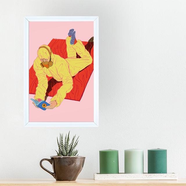 Art - Home Alone - 20x30 Yapışan Çerçeve