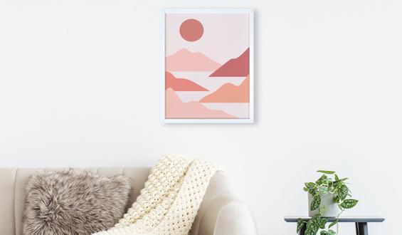 Boho Landscape 30x40 Sticky Frame