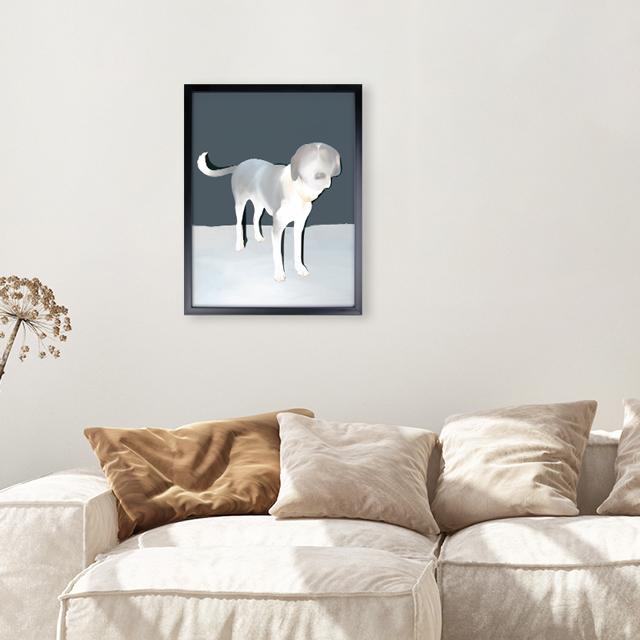 Art - The Dog  - 30x40 Yapışan Çerçeve