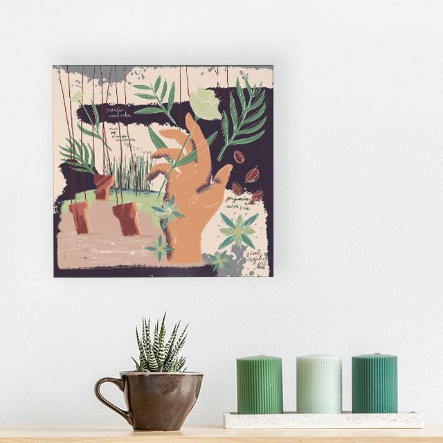 Art - Şafağın Kapısında - 40x40 Kanvas Tablo