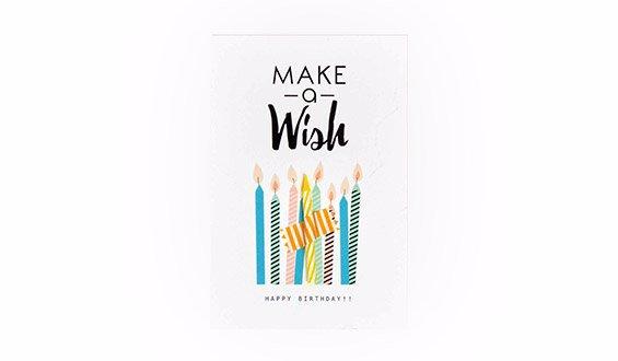 Happy Birthday Motto Card
