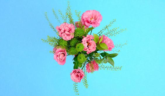 Pink Lisianthus Flower Bouquet