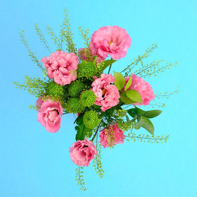 Pembe Lisianthus Çiçek Buketi