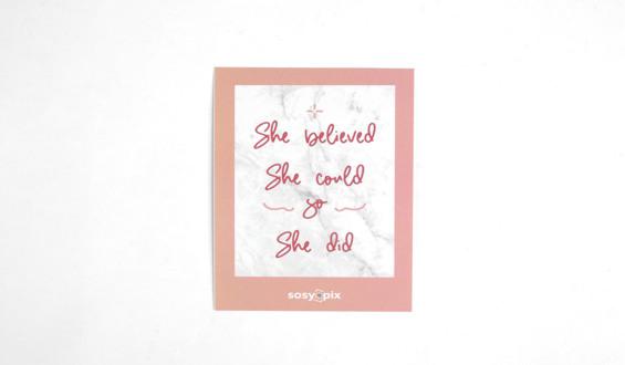 Strong Woman Motto Card
