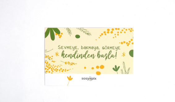 Start Yourself Motto Card
