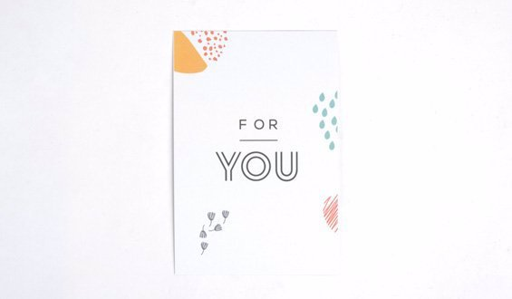 For You Motto Card