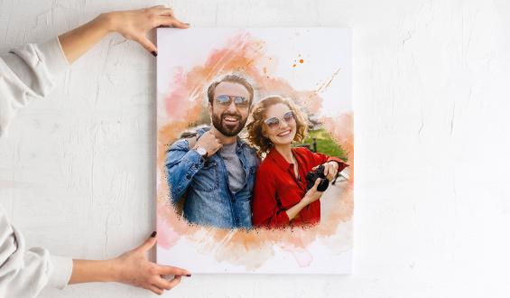 Sulu Boya Tasarımlı 40x50 Kanvas Tablo